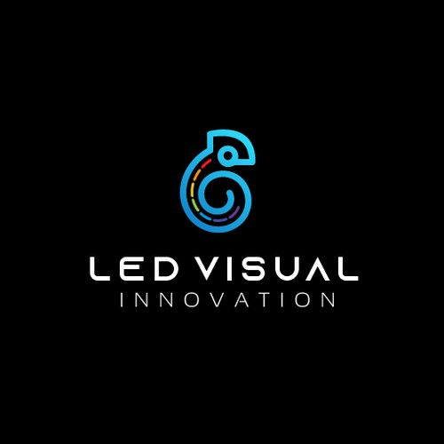 Screen design with the title 'Modern logo for a LED screen manufacturing company'