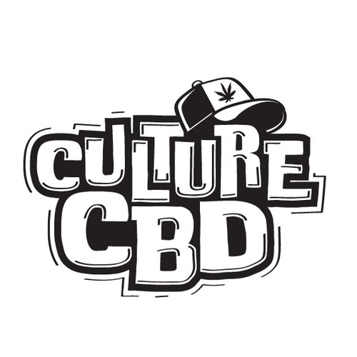 Marijuana design with the title 'CBD brand logo with an influence from the hip-hop community'