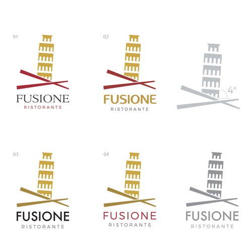 Gastronomy logo with the title 'Fusiones Restaurante'