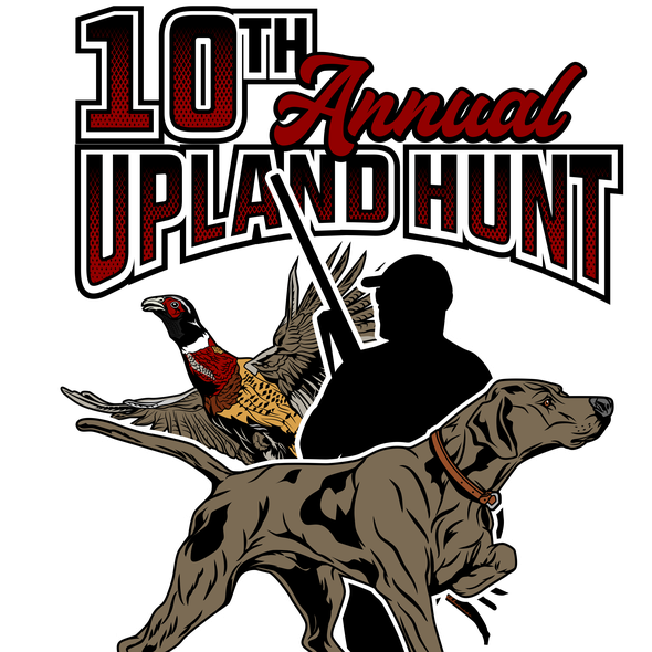 Hunting t-shirt with the title '10 th annual upland hunt OS '