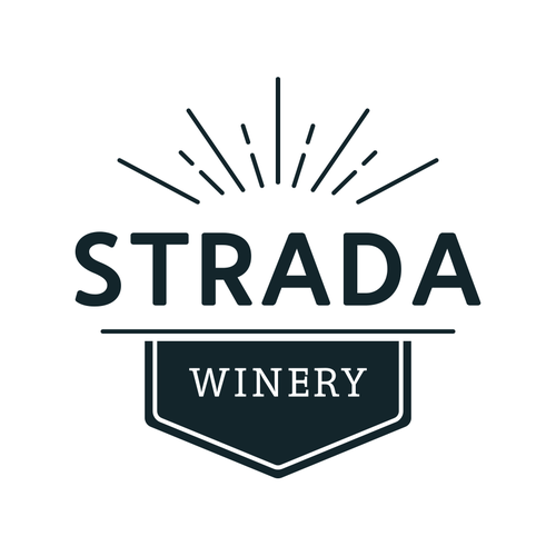 Crisp logo with the title 'Logo Design | Strada Winery'