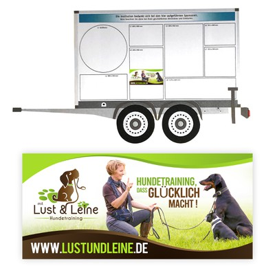 eye-catching advertising sign for a dog trainer