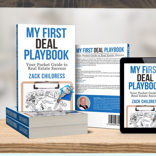 Real estate book cover with the title 'My First Deal Playbook'