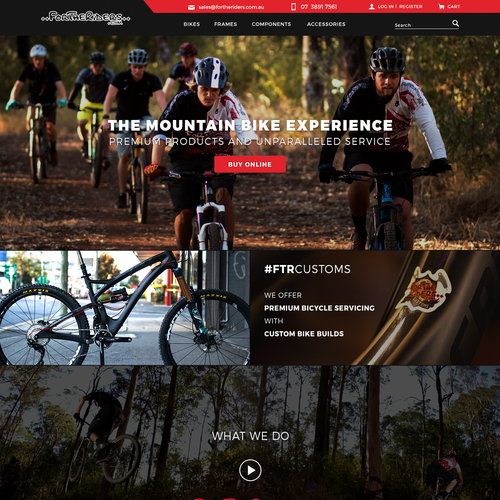 Bike shop design with the title 'Webdesign for Bike shop'