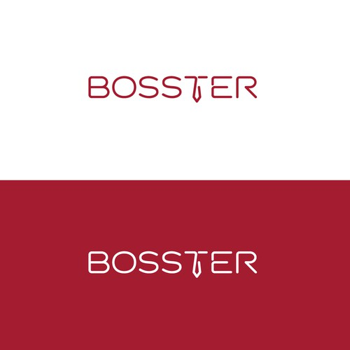 Executive logo with the title 'Punchy logo for BOSSTER'