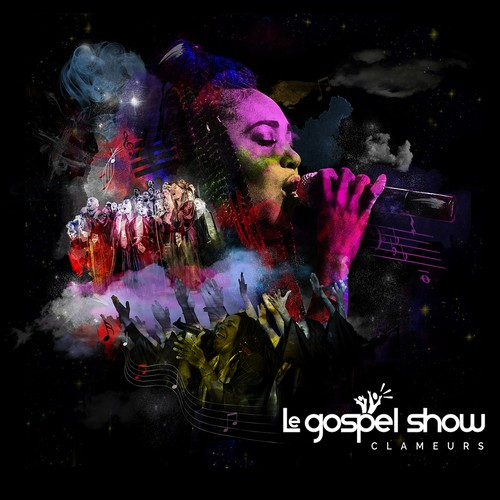 Collage artwork with the title 'Le gospel Show'