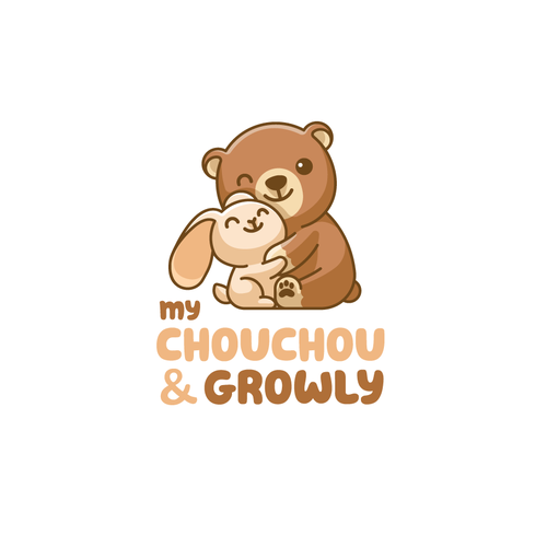 Cartoon design with the title 'My ChouChou & Growly'