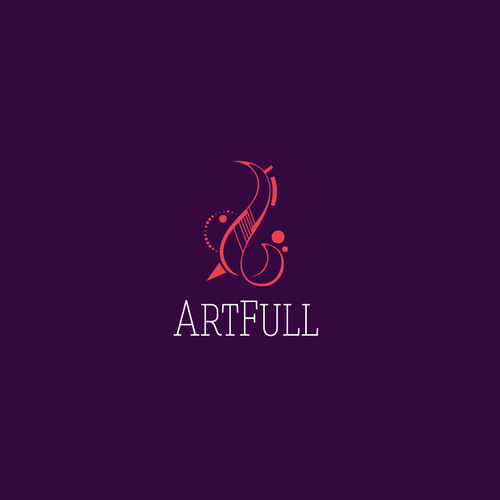 Abstract art logo with the title 'ArtFull'