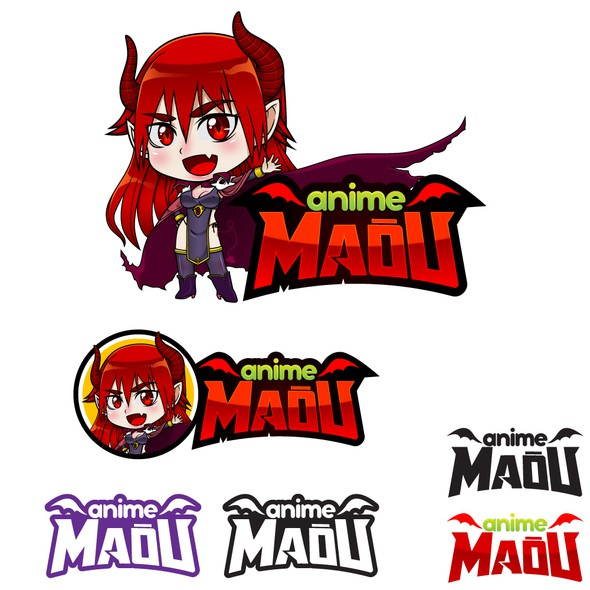 Chibi design with the title 'Logo for a Anime TV channel'