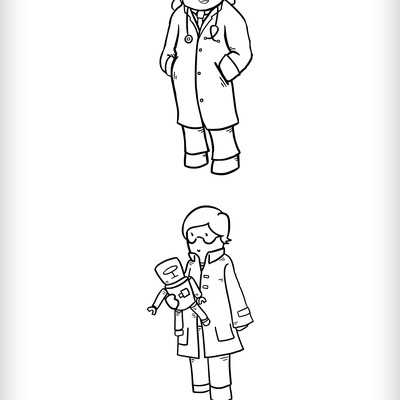 Original Lineart Characters Design