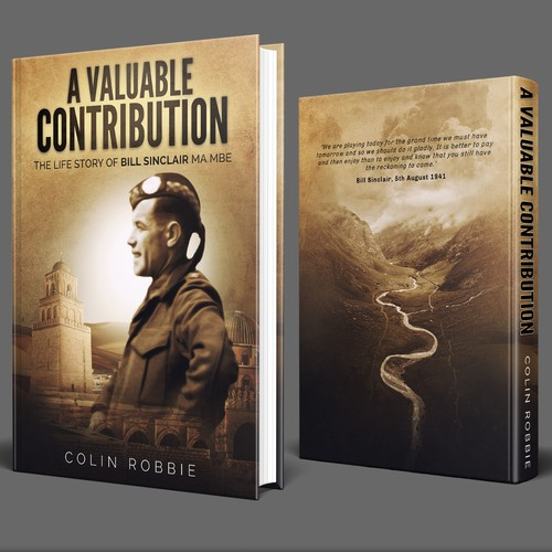 Military book cover with the title 'A Valuable Contribution Book Cover'