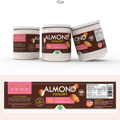 Almond Yogurt Label