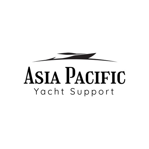 Yacht club logo with the title 'Asia Pacific Yacht Support'