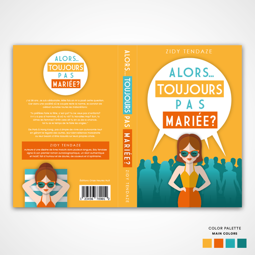 Art book cover with the title 'Book Cover design'