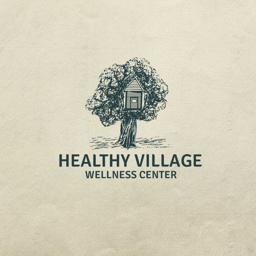 Point logo with the title 'Healthy Village '
