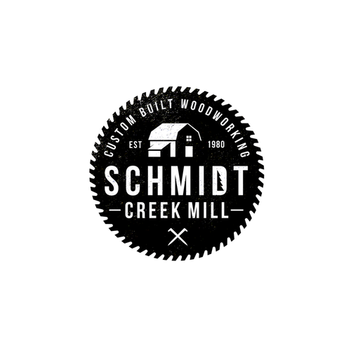 Saw design with the title 'Schmidt Creek Mill'