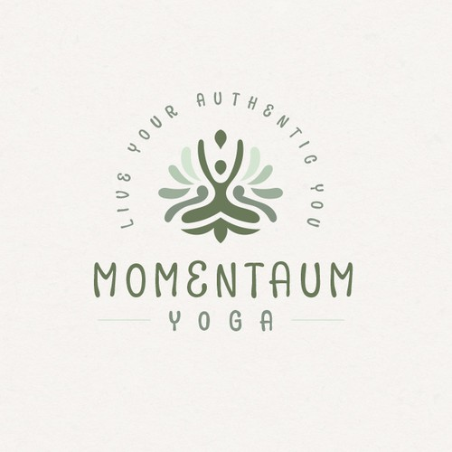 Meditation logo with the title 'Earthy Yoga'
