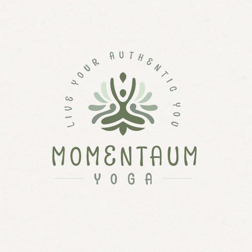 Spiritual logo with the title 'Earthy Yoga'
