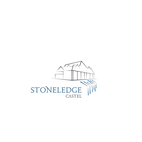 Waterfall design with the title 'stoneledge casel concept'
