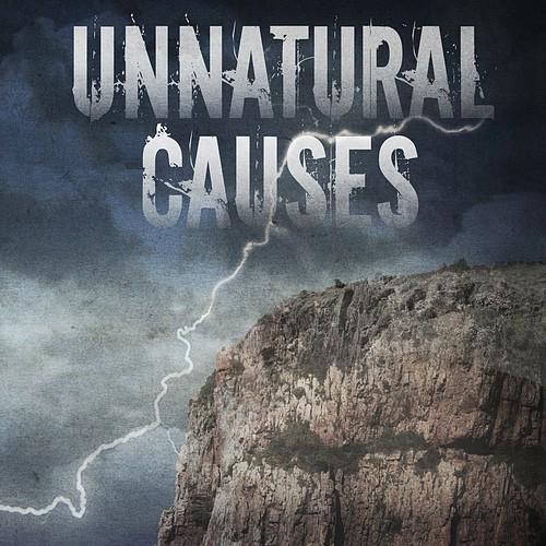 Lightning design with the title 'Supernatural thriller book cover design'