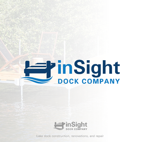 Dock design with the title 'LOGO design for a lake dock company'