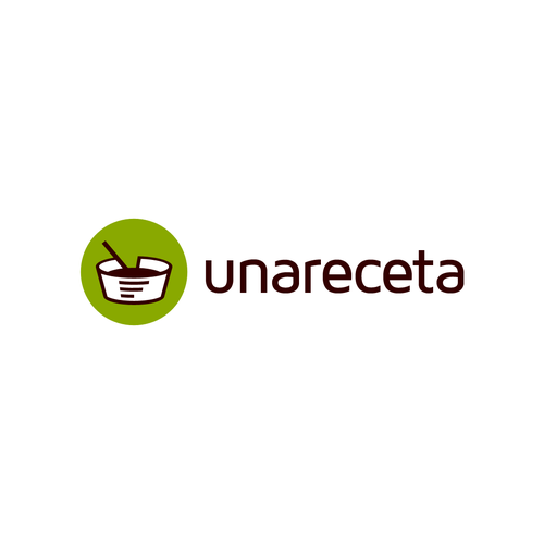 Food blog logo with the title 'unareceta'