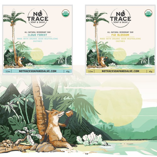 Coconut design with the title 'Labels for NoTrace'