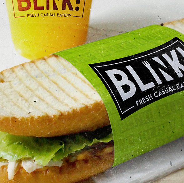 Eatery design with the title 'Blink!'