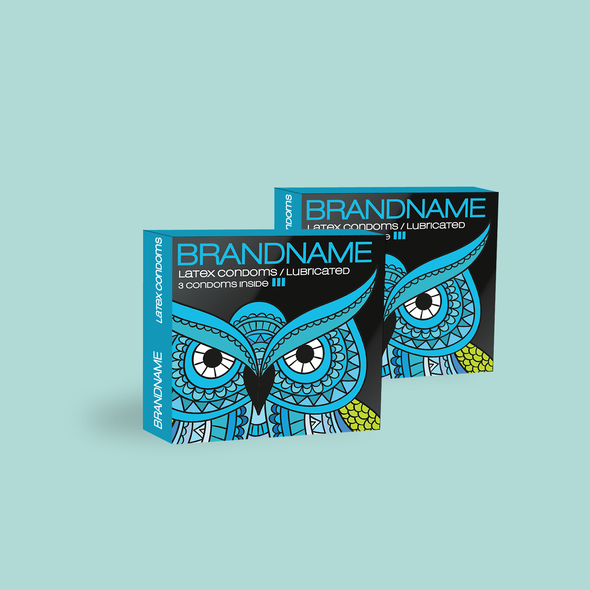 Condom design with the title 'Condom box design proposal'