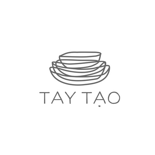 Ceramic design with the title 'logo for luxury Vietnamese boutique.'
