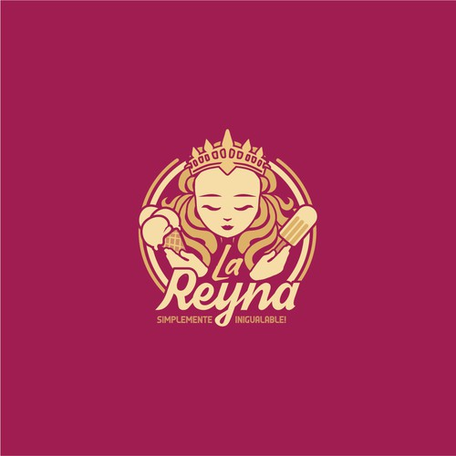 Regal design with the title 'La Reyna logo design concept'