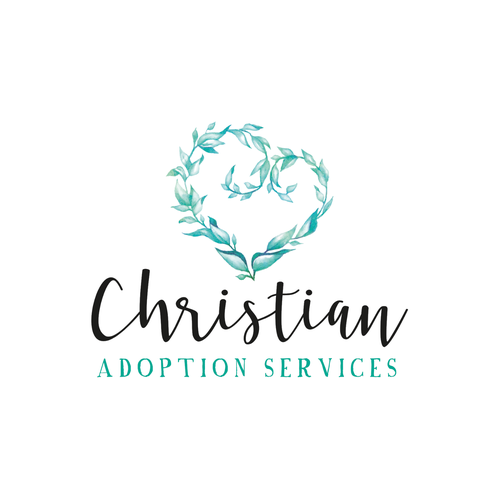Watercolor logo with the title 'Soft watercolor logo for Christiant Adoption Services'