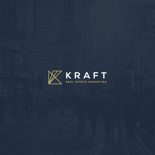 Marketing design with the title 'Logo concept for Kraft Real Estate Marketing'