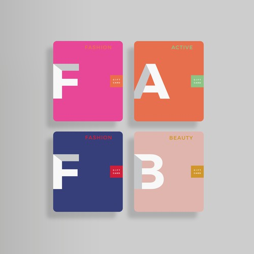 Typographic design with the title 'Gift Cards'
