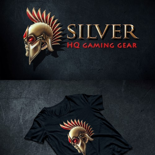 Spartan helmet design with the title 'Silver'