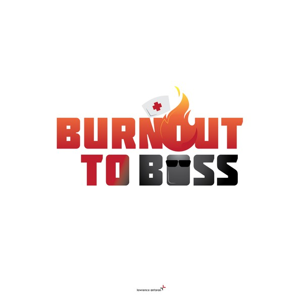 """Nursing logo with the title '""""Burnout to Boss"""" Book - Logo'"""