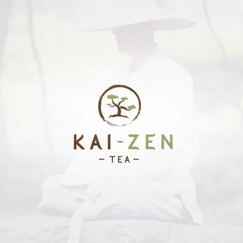 Zen design with the title 'Kai Zen Tea Logo'