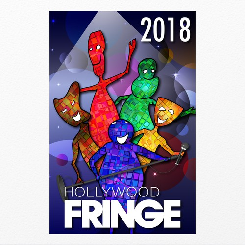 Event illustration with the title 'Hollywood Fringe Festival'