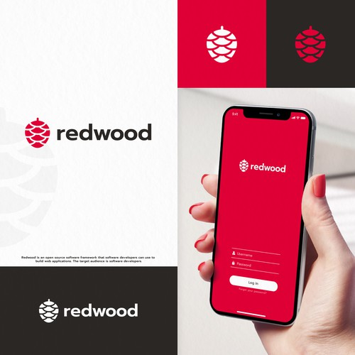 Software logo with the title 'Redwood'
