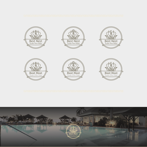 Nest logo with the title 'Luxurious Logo'