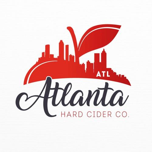 Georgia logo with the title 'Logo for Atlanta Hard Cider Co.'