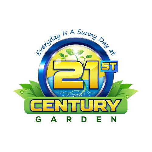 Gardener logo with the title 'A modern take on an existing hydroponics logo'