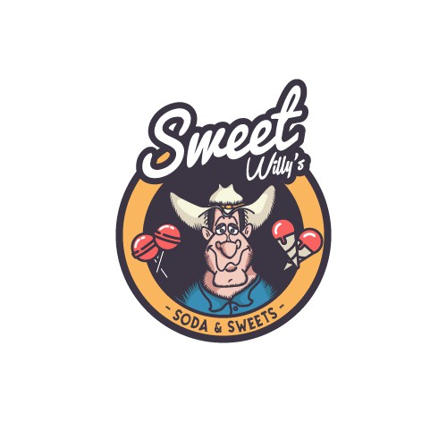 Soda logo with the title 'Sweet Willy's'