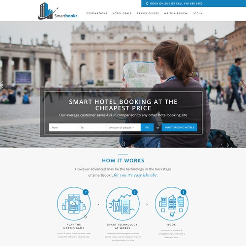 Travel website with the title 'Smartbookr or BookingGuard '