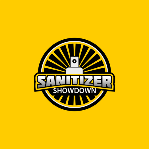 Spray logo with the title 'Logo Concept for Sanitizer Showdown'