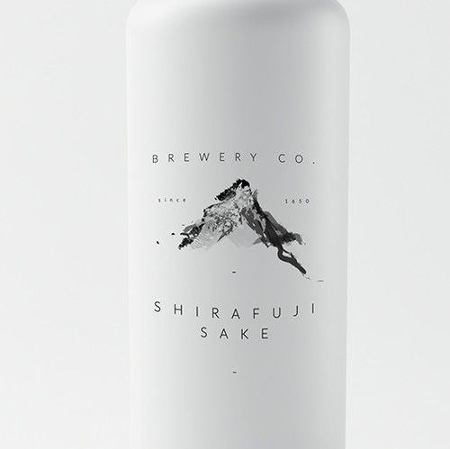 Contemporary brand with the title 'handmade traditional sake'