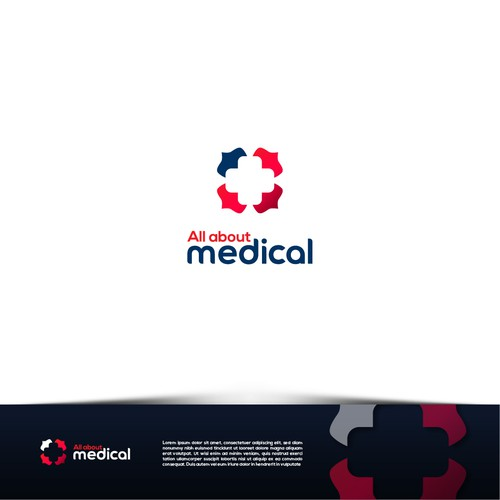 Hospital brand with the title 'logo for medical supplies and equipment'