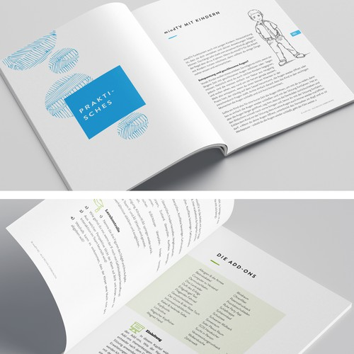 Catalogue design with the title 'Training manual design'