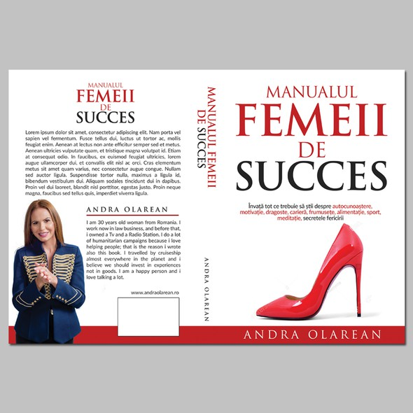 Female book cover with the title 'design a cover for a Personal Development book: Successful women's manual'