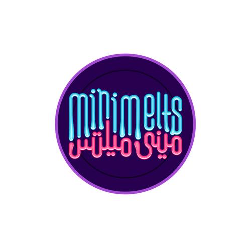 Arabic logo with the title 'Mini melts ميني ميلتس'